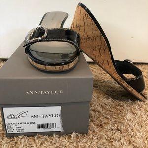 Ann Taylor Cork Wedge Sandals